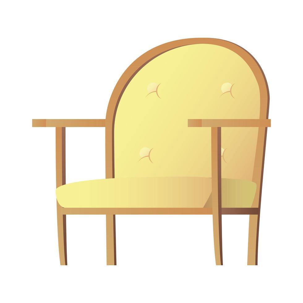 gelbes Sofa isolierte Vektorillustration Design vektor