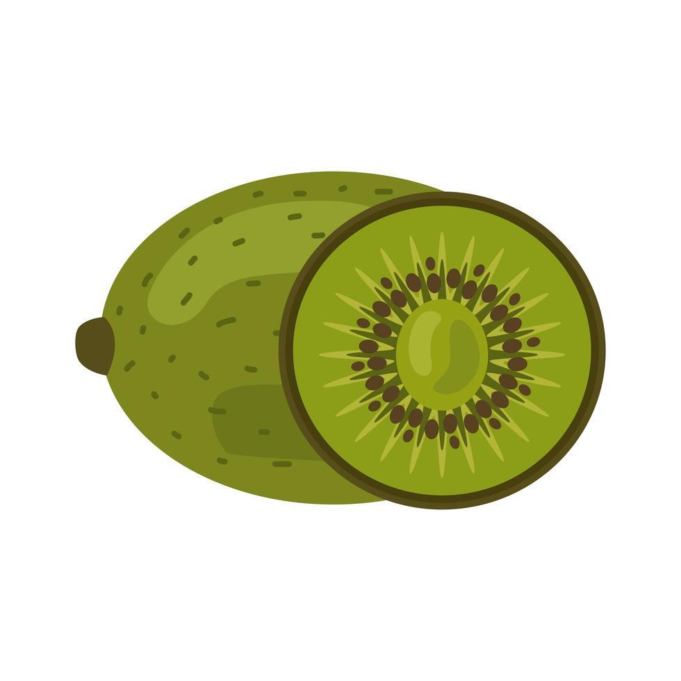 Kiwi frisches Obst gesunde Lebensmittelikone vektor