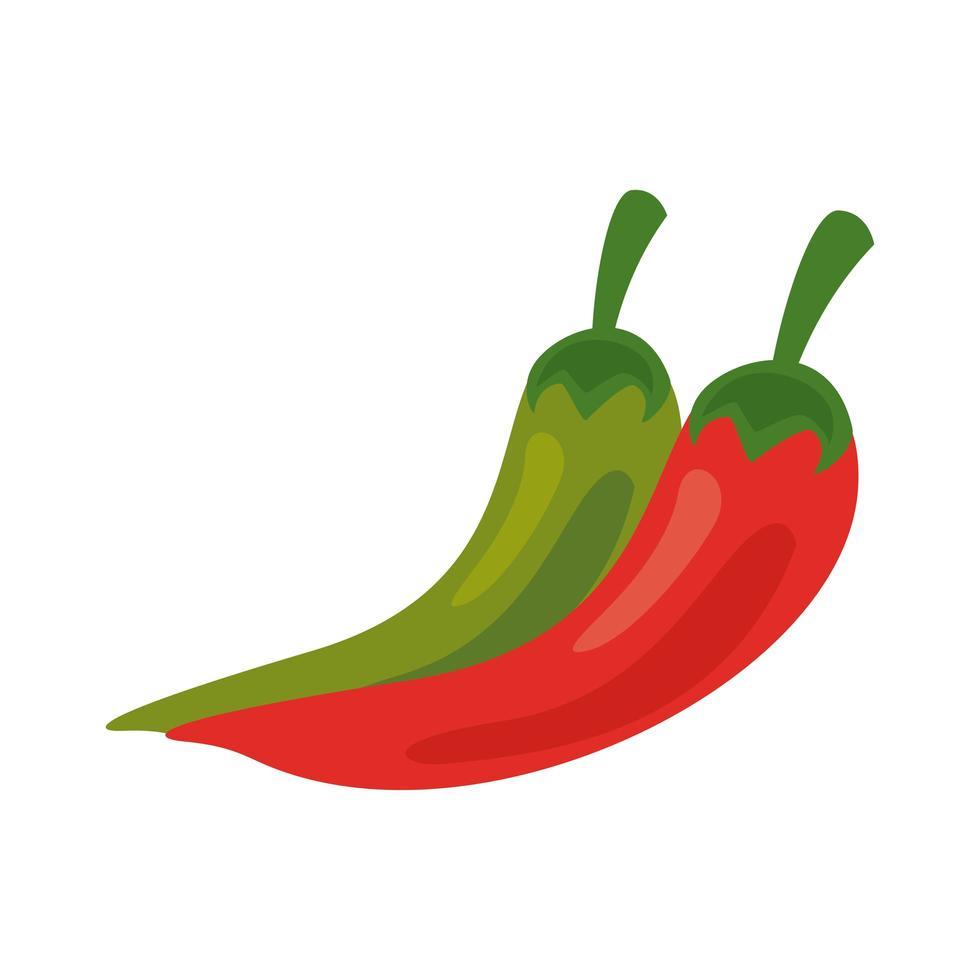 Chili Paprika frisches Gemüse gesunde Lebensmittel Ikone vektor