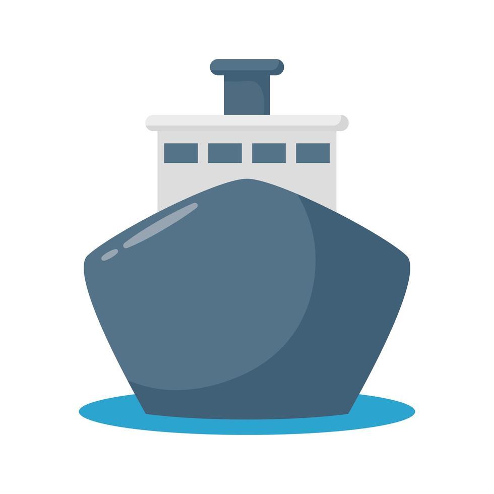 Kreuzfahrtschiff flache Stilikone vektor