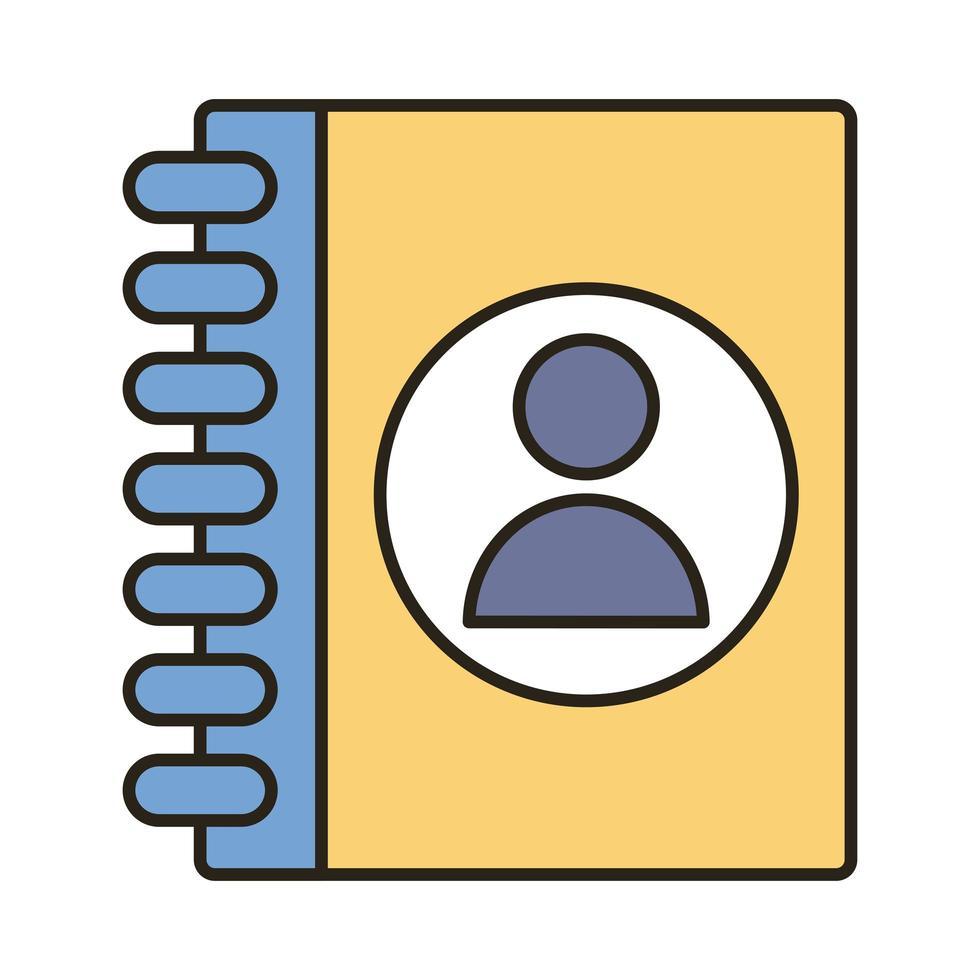 Profil-Avatar in der Tagebuchzeile und Füllstilsymbol vektor