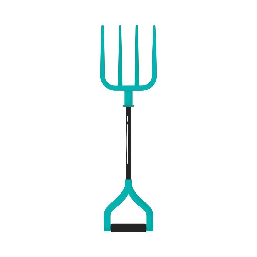 Rechen Gartenwerkzeug flache Stilikone vektor