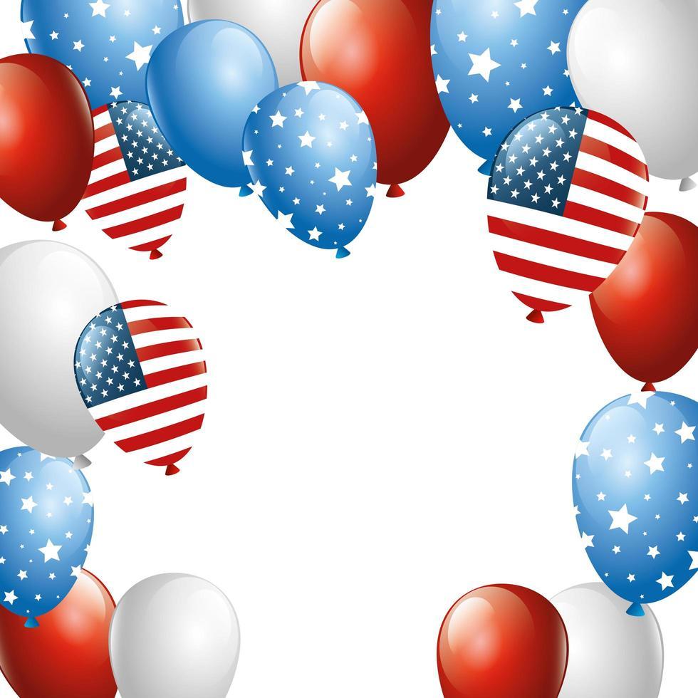 isolierte USA Ballons Vektor-Design vektor