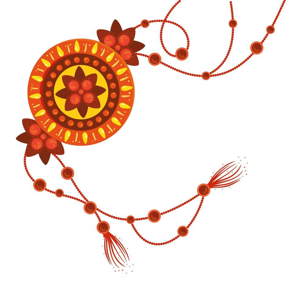 raksha bandhan, armband rakhi på vit bakgrund vektor