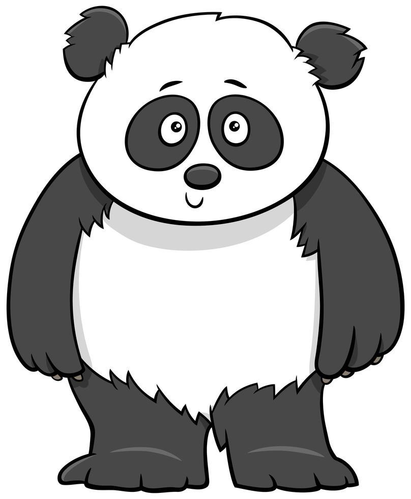 söt baby panda tecknad illustration vektor