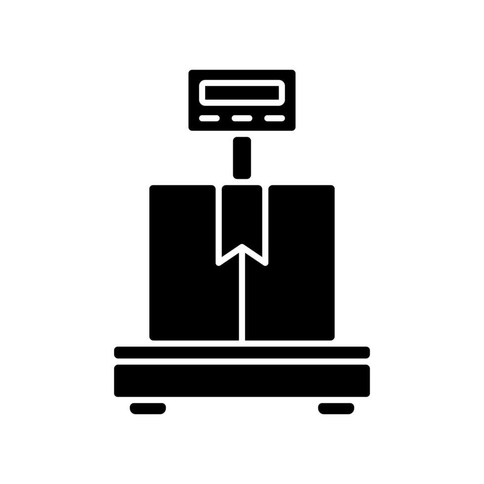 Industrielle Waage schwarzes Glyphensymbol vektor