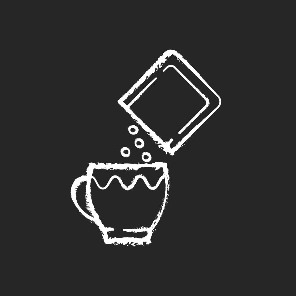 orale Rehydrationssalze Kreide weißes Symbol auf schwarzem Hintergrund vektor