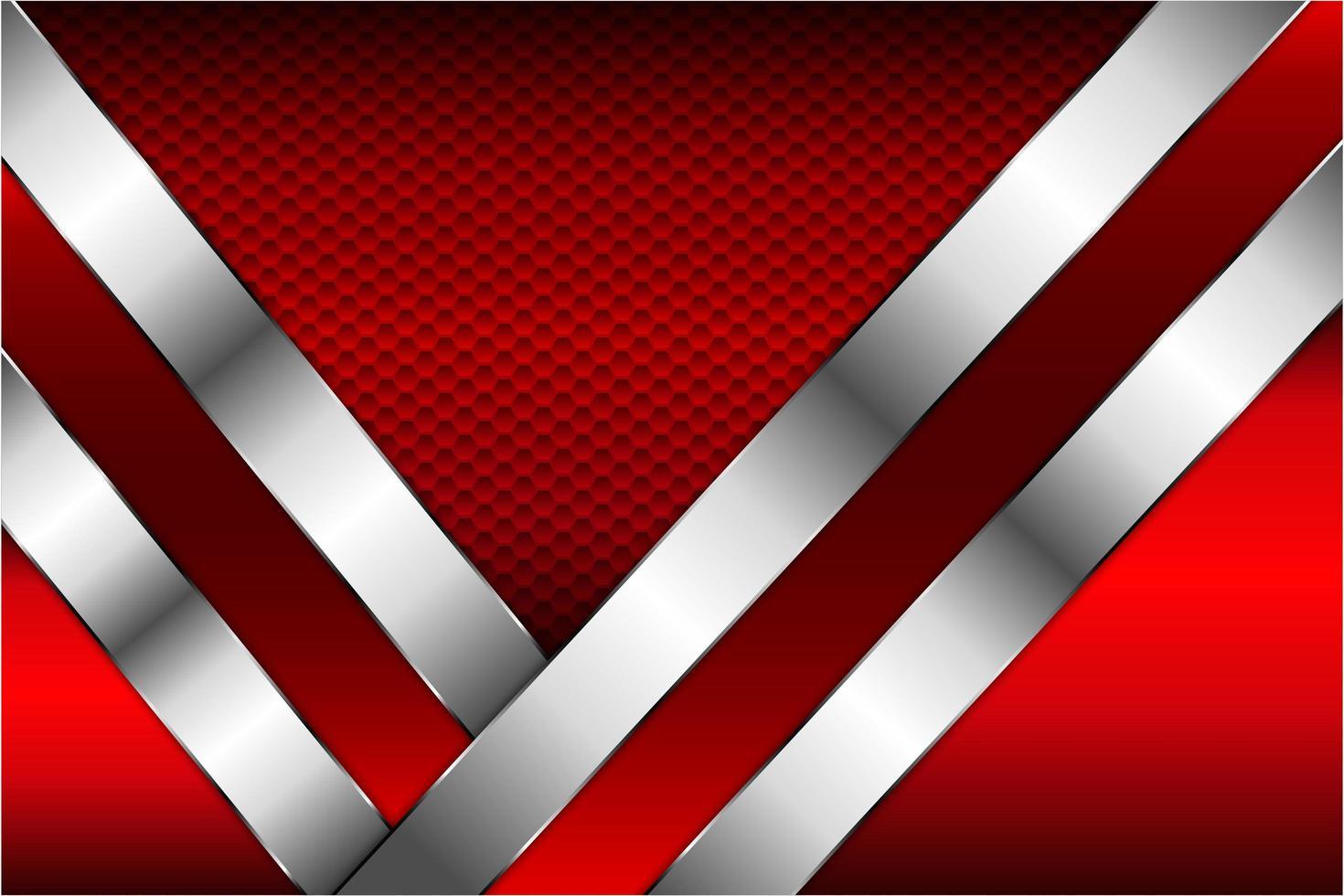 rödmetallteknik med hexagonmönster. vektor