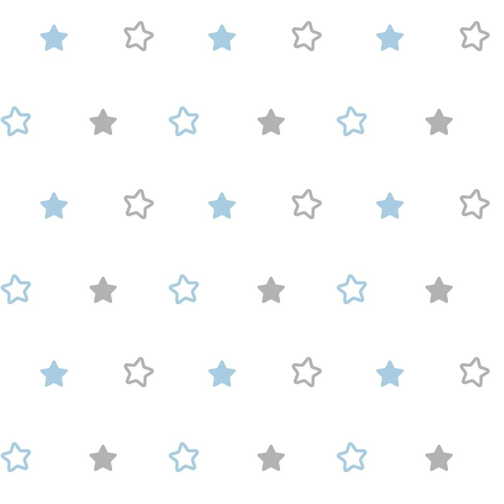 vektor sömlöst skandinaviskt mönsterbarn med stjärnor för webb, tryck, tapeter, modetyg, textildesign, bakgrund för inbjudningskort eller semesterdekor