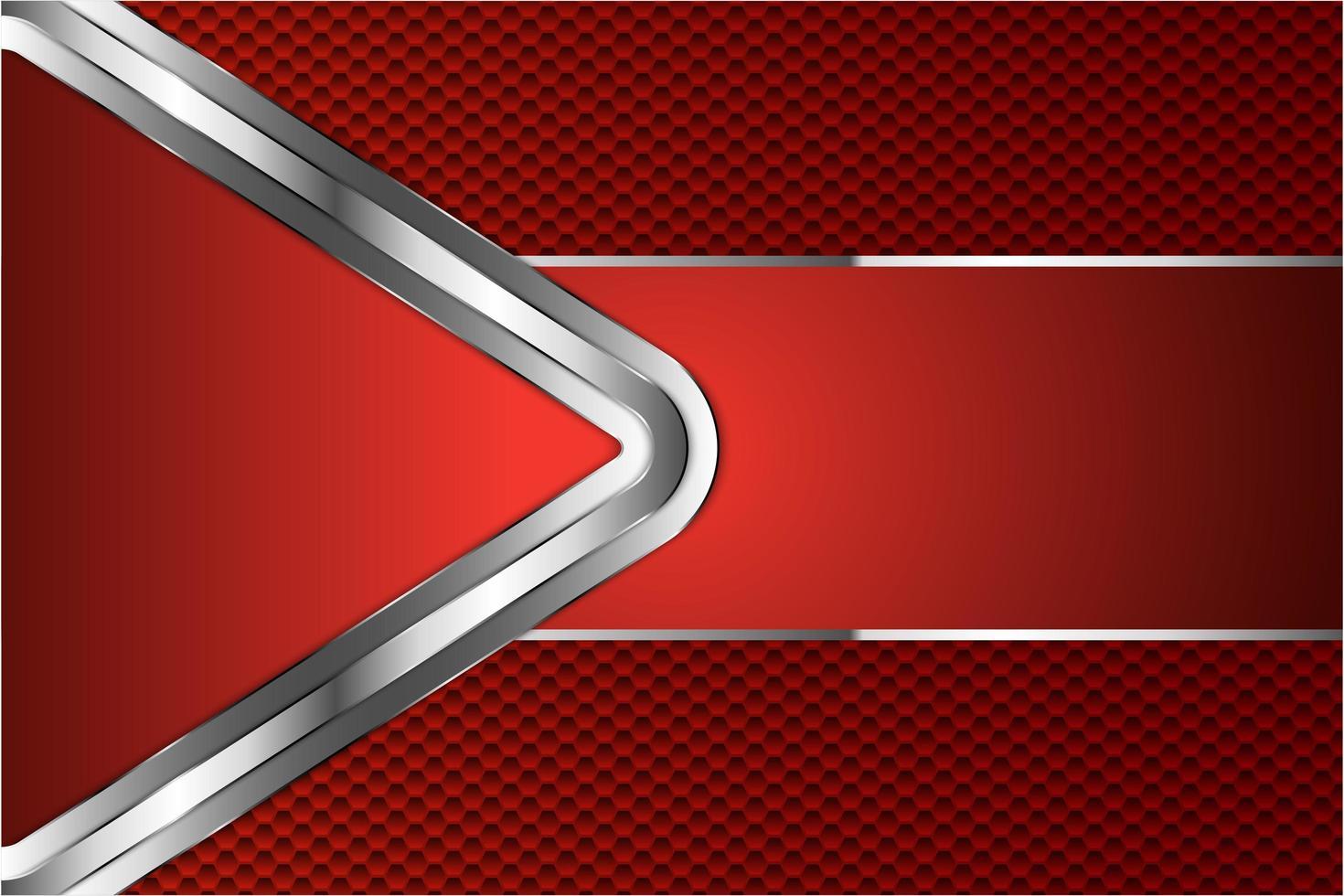 röd metall bakgrund med sexkant vektor
