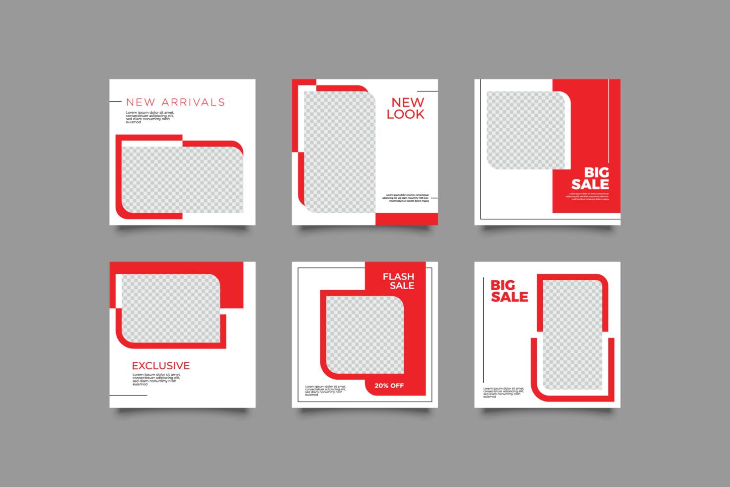 minimalistisk post sociala medier postmall vektor