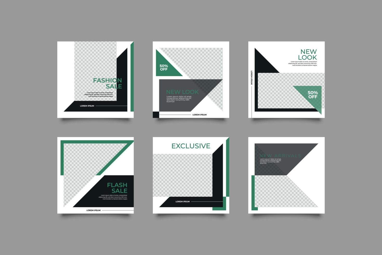 minimalistisk banner för sociala medier vektor