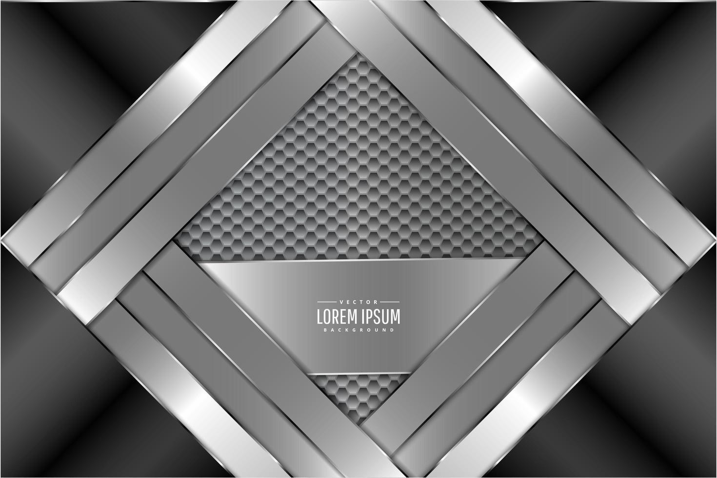 metall bakgrund med hexagon mönster vektor