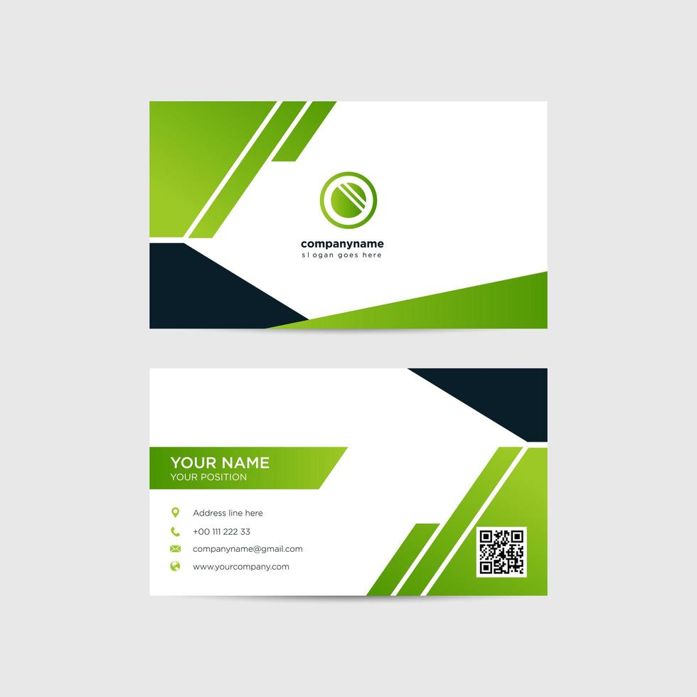 vektor modern kreativ och ren visitkortsmall