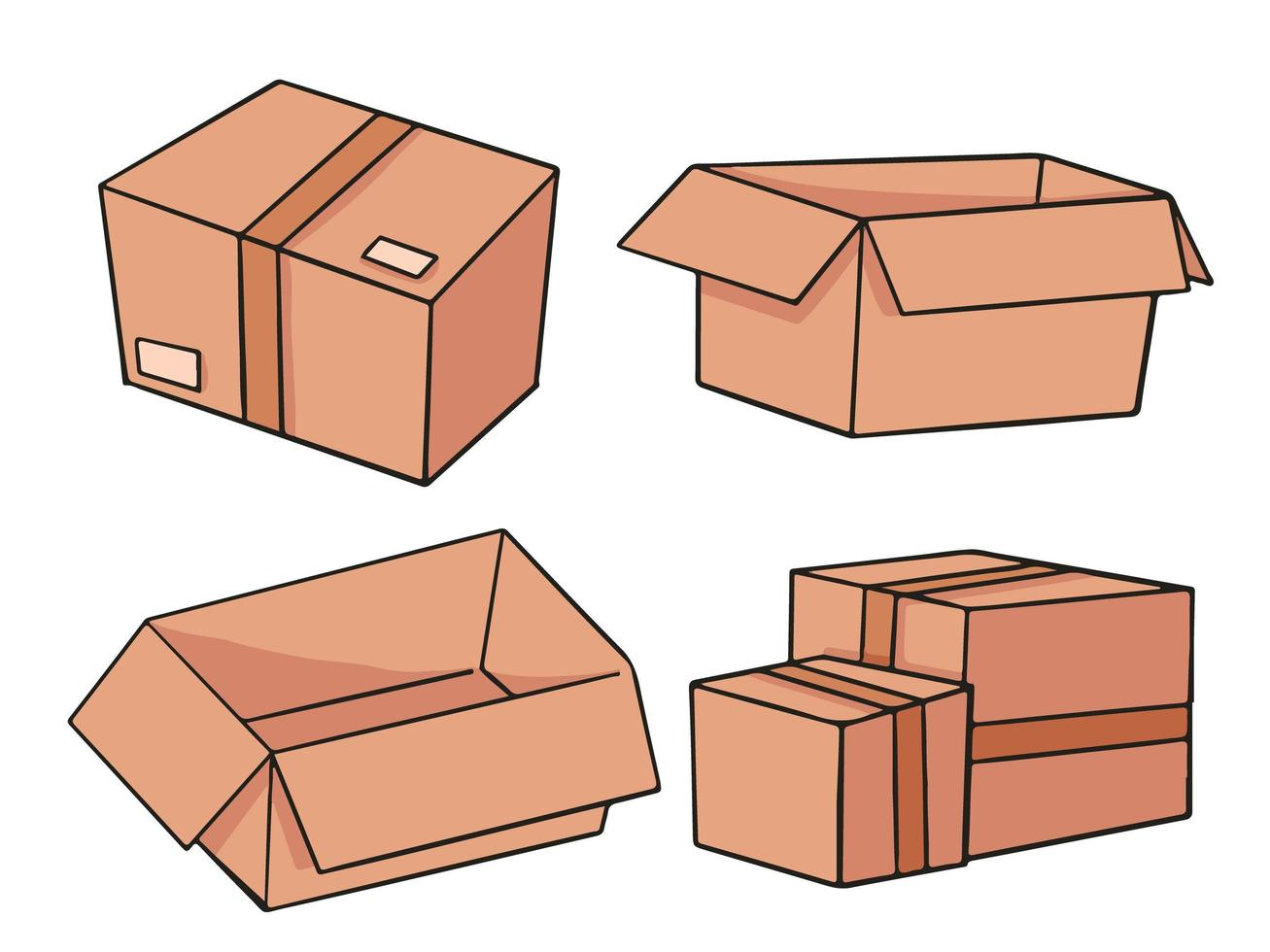 kartong tecknad illustration design vektor