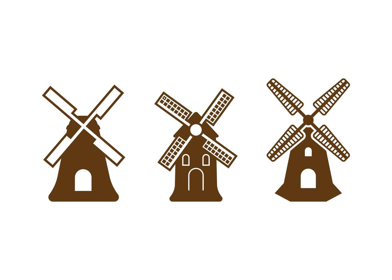 Windmühle Symbol Design Vorlage Vektor isoliert Illustration