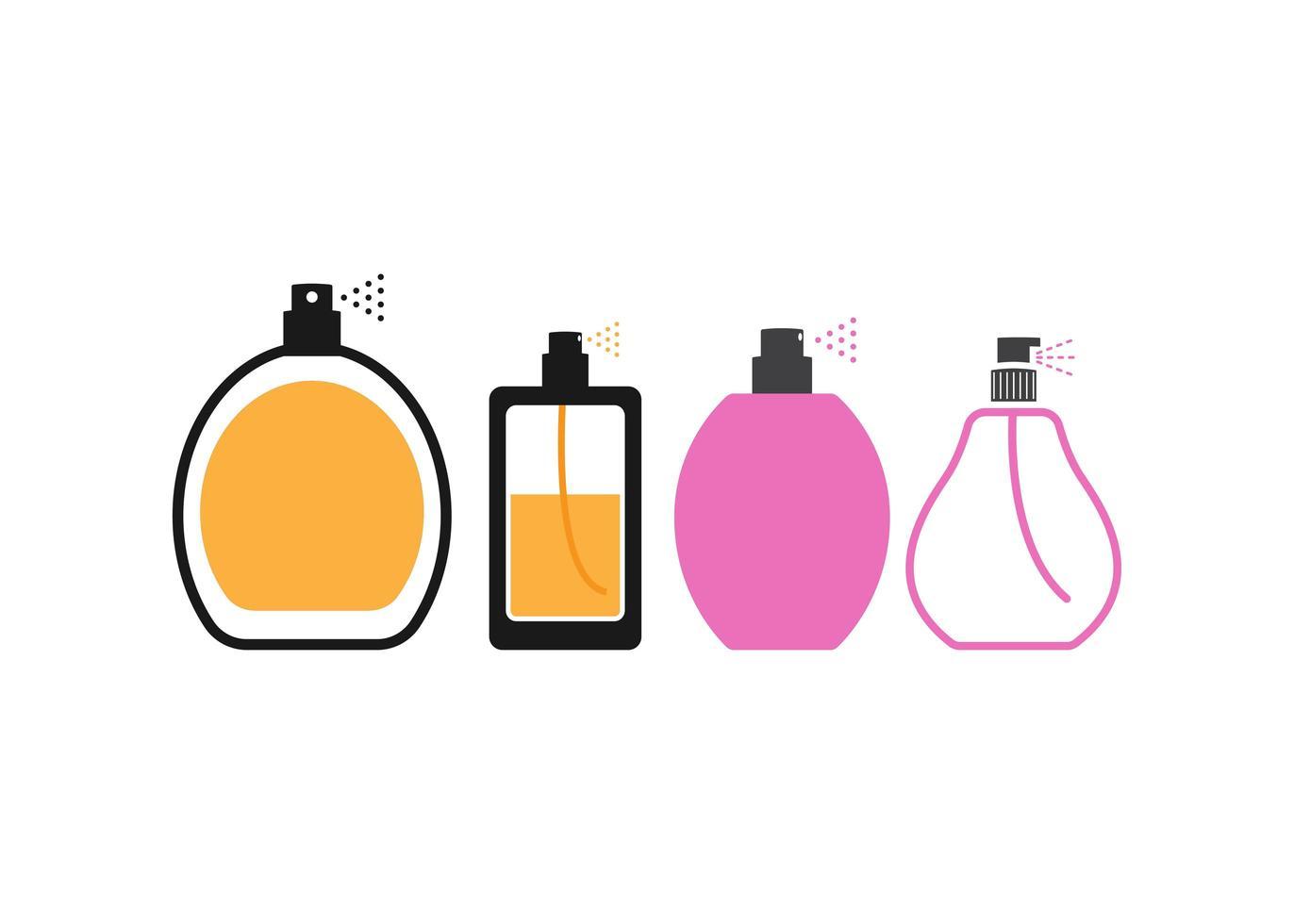 Parfüm Icon Design Set vektor