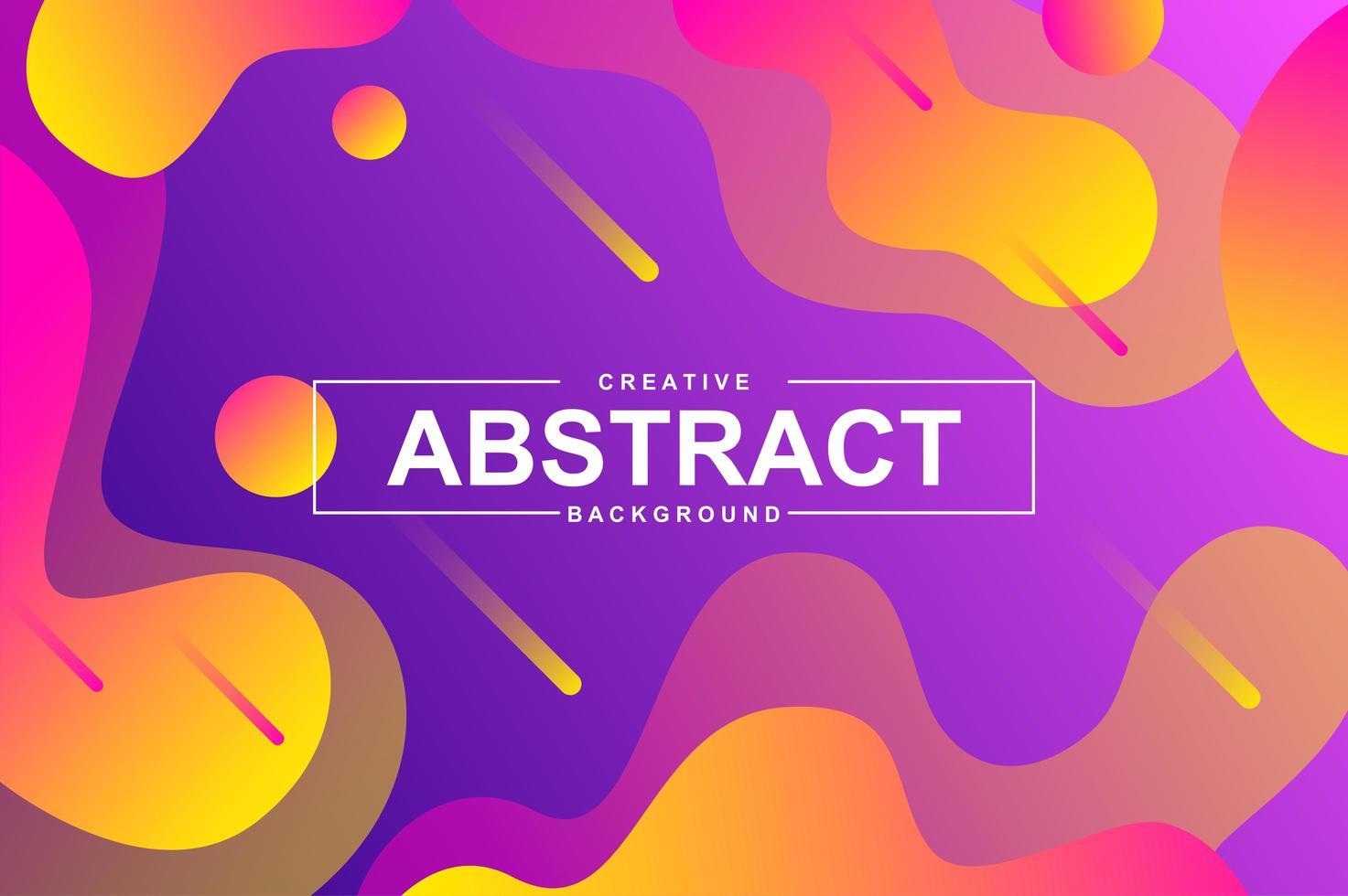 abstrakt bakgrundsdesign med dynamiska flytande former. vektor