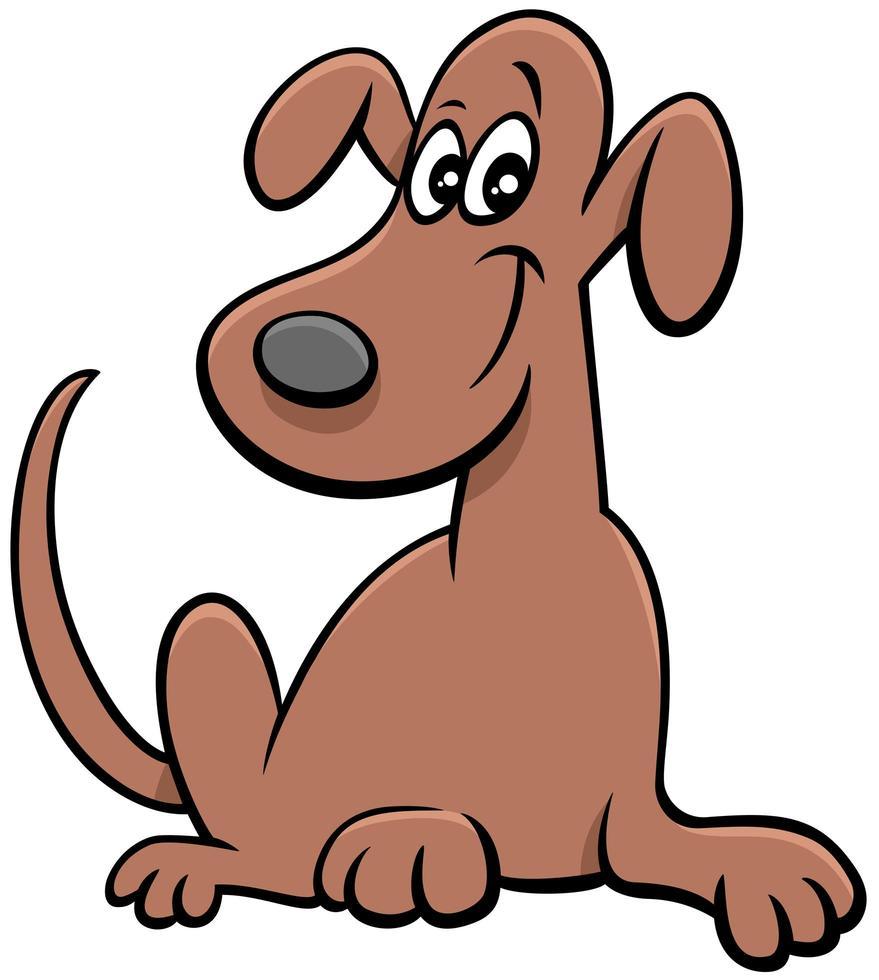 tecknad rolig hund komisk djur karaktär vektor