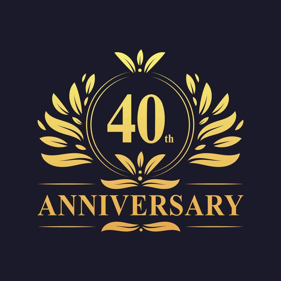 40-årsjubileumsdesign vektor