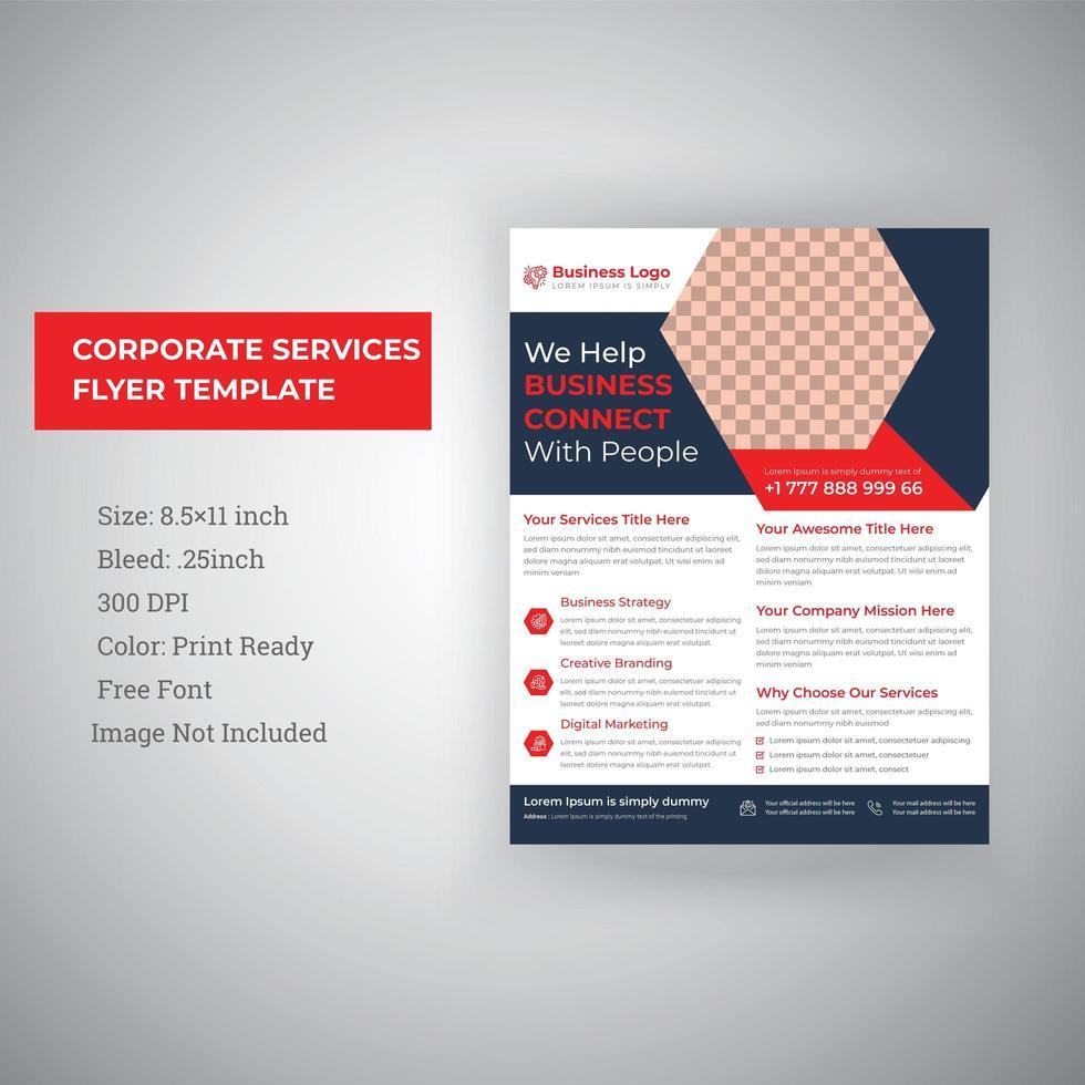 Corporate Business Services Flyer Vorlage Design vektor
