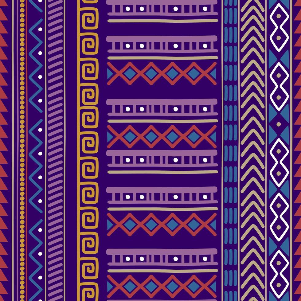 nahtlose Vektor Stammes-Textur-Set. ethnische Motive Gruppe nahtlose Textur.