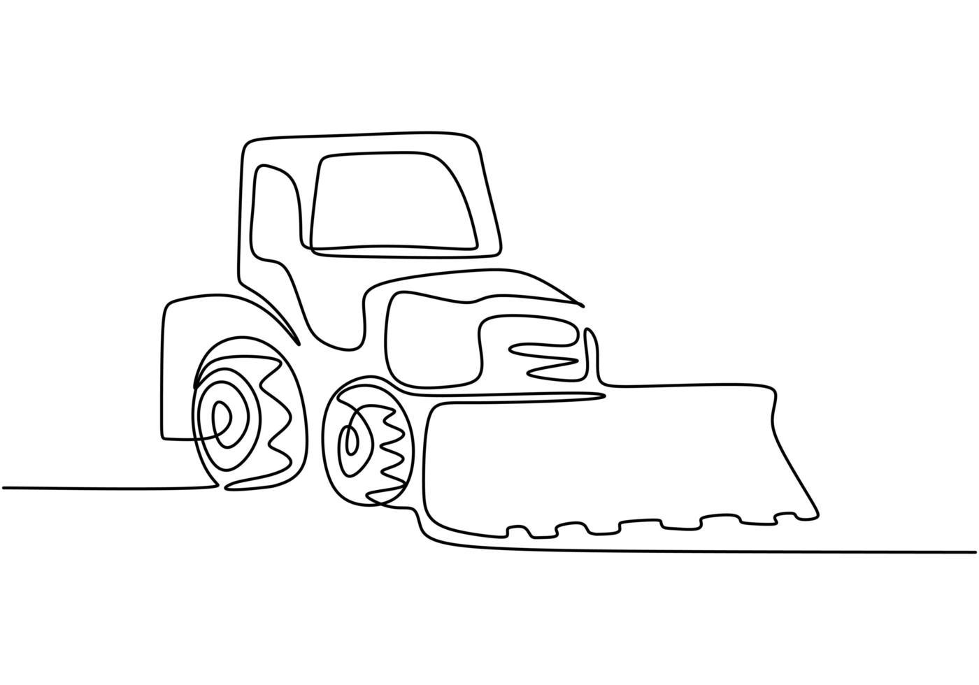 byggmaskinen är en traktorgrävmaskin. bulldozer byggmaskinen. vektor