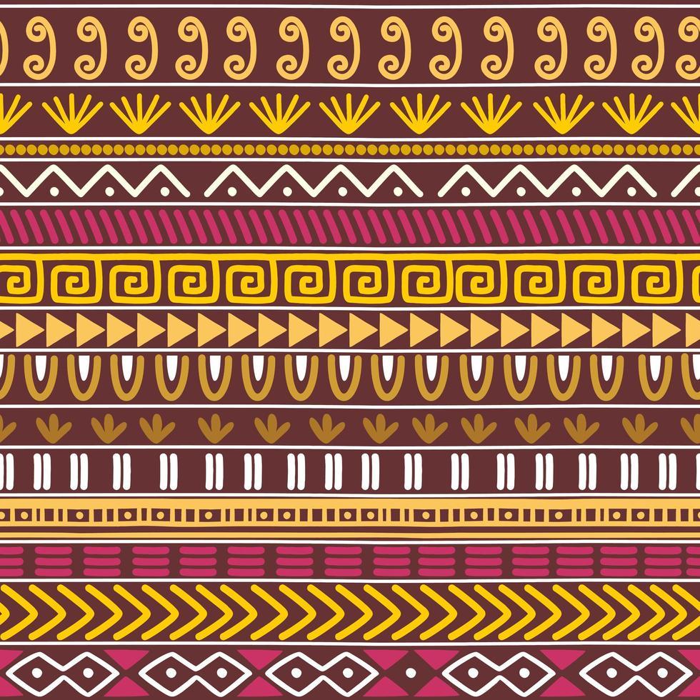 nahtlose Vektor Stammes-Textur-Set. ethnische Motive Gruppe nahtlose Textur. Vintage ethnische nahtlose Kulisse.