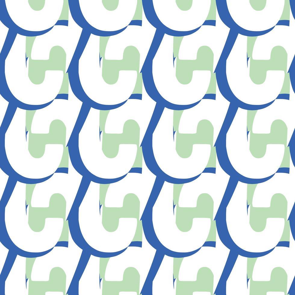 Vektor nahtlose Textur Hintergrundmuster. handgezeichnete, blaue, grüne, weiße Farben.
