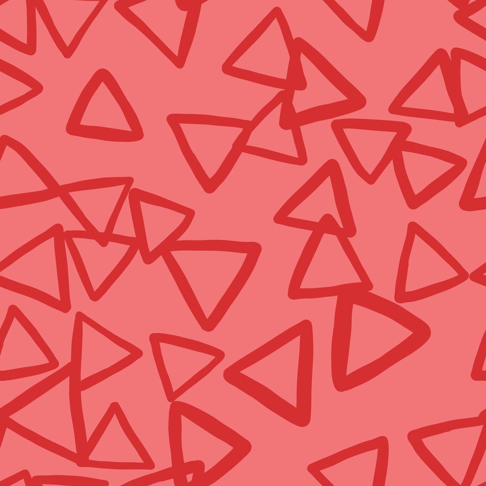 vektor sömlös textur bakgrundsmönster. handritade, röda färger.