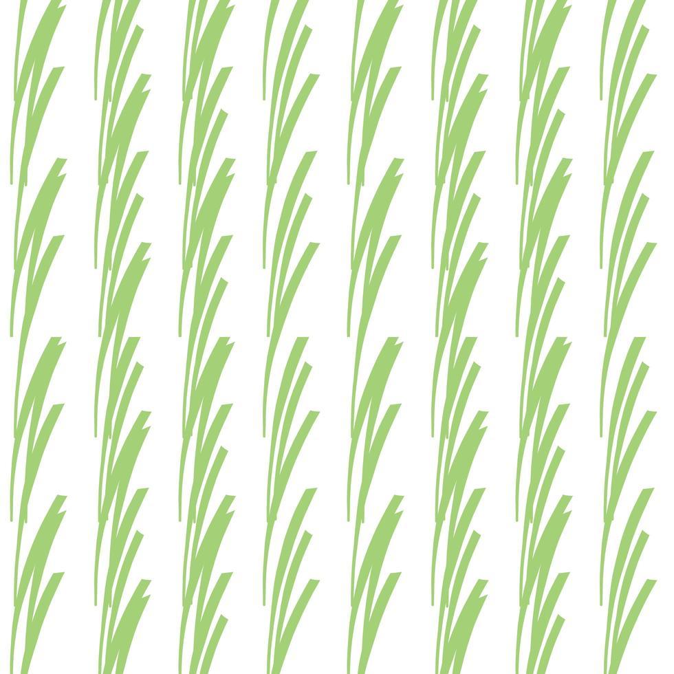 vektor sömlös textur bakgrundsmönster. handritade, gröna, vita färger.