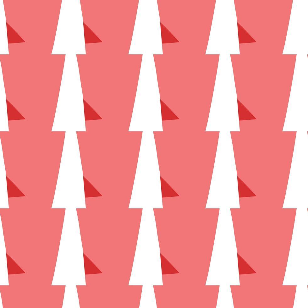 Vektor nahtlose Textur Hintergrundmuster. handgezeichnete, rote, weiße Farben.