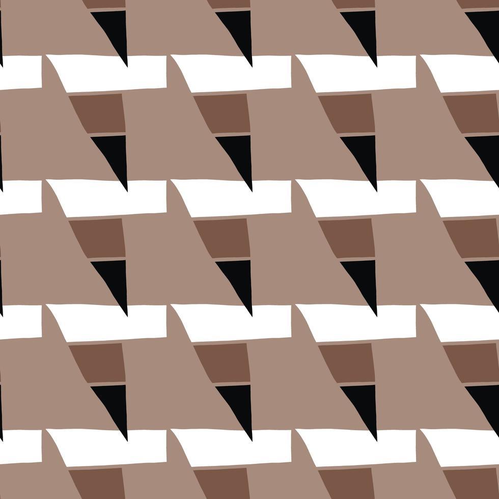 Vektor nahtlose Textur Hintergrundmuster. handgezeichnete, braune, schwarze, weiße Farben.