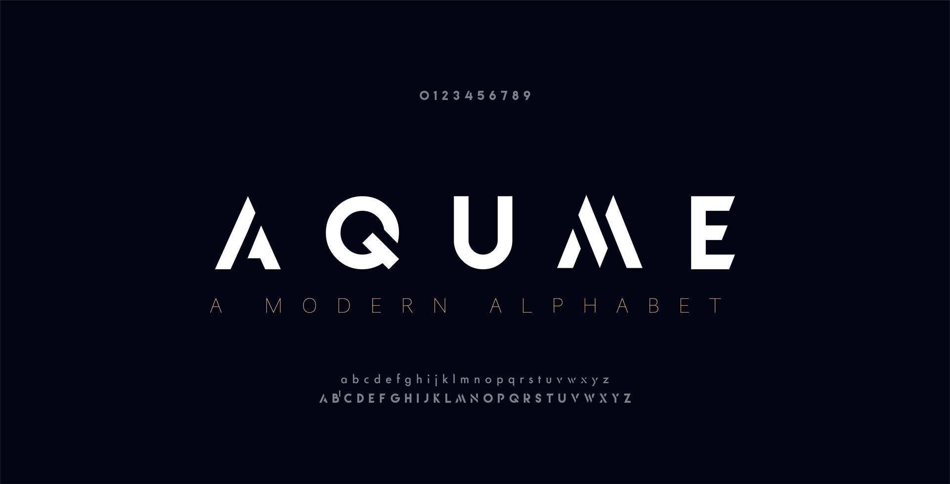 abstrakta digitala moderna alfabetsteckensnitt vektor