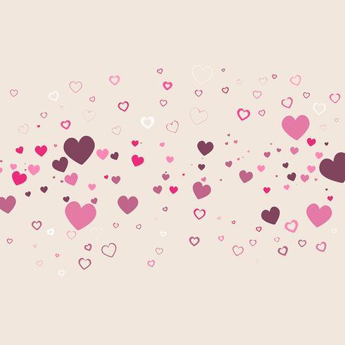 Valentinstag Herz Hintergrund vektor