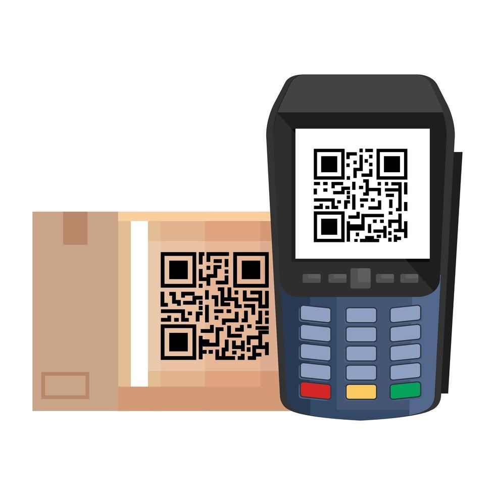 QR-Code im Dataphon-Vektor-Design vektor