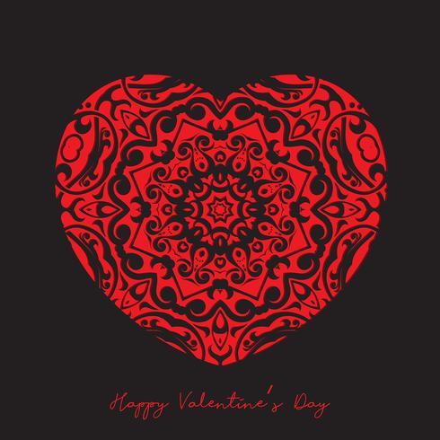 Dekorativt hjärta bakgrund för Alla hjärtans dag vektor