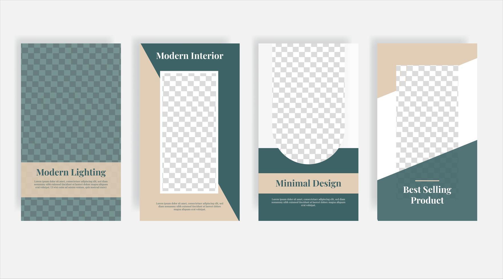 moderna möbler sociala medier post mall banner vektor