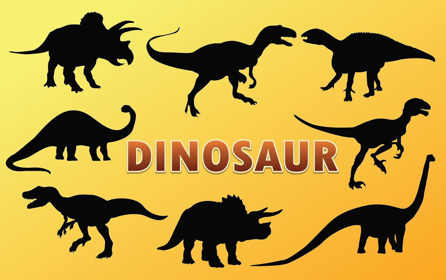 dinosaurie silhuett vektor design.
