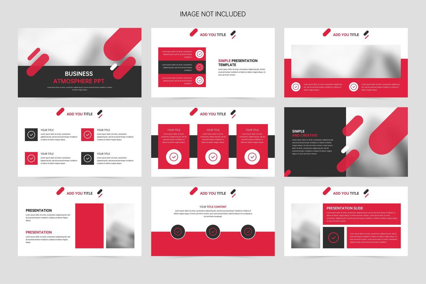rote geometrische kreative Geschäftsförderungspräsentationspräsentationsfolien vektor