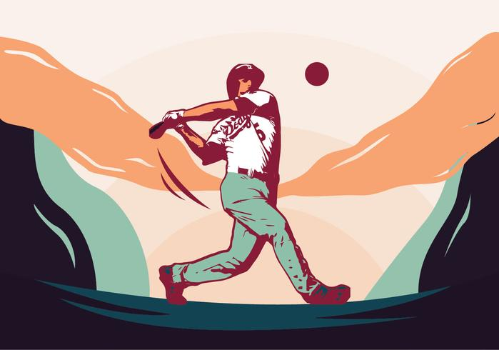 basebollspelare vektor design