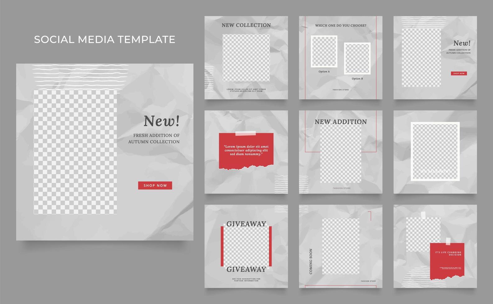 Social Media Vorlage Banner Blog Mode Verkauf Förderung vektor
