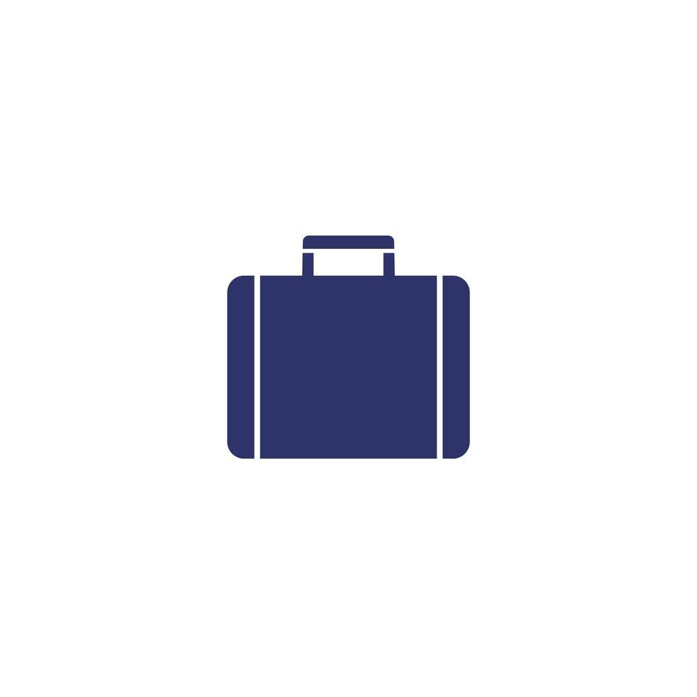 portfölj, resväska ikon på vitt vektor