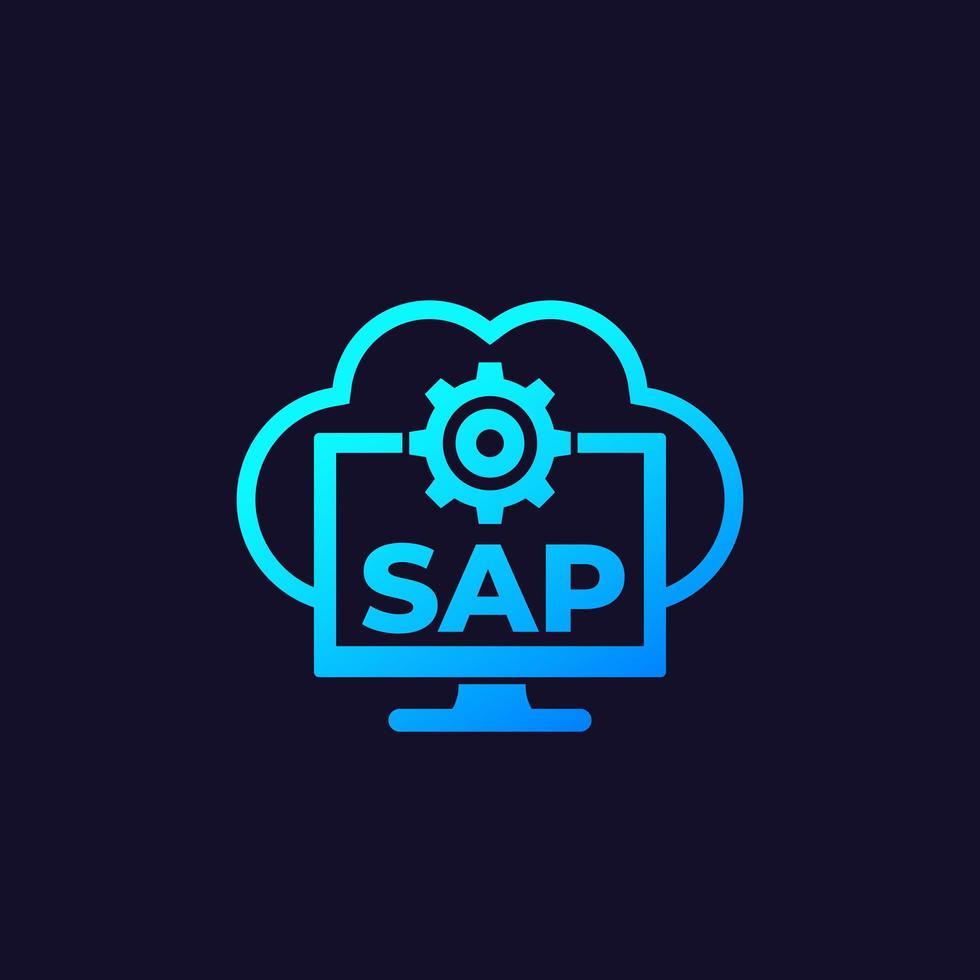 SAP, mjukvara för affärsmoln, vektor