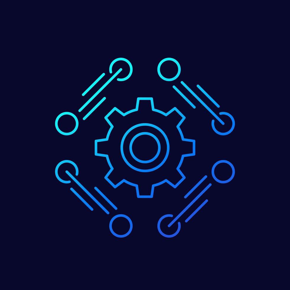 Software, API-Liniensymbol, Vektor