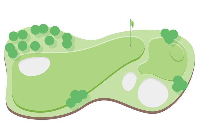 utsikt över golfbanan vektor
