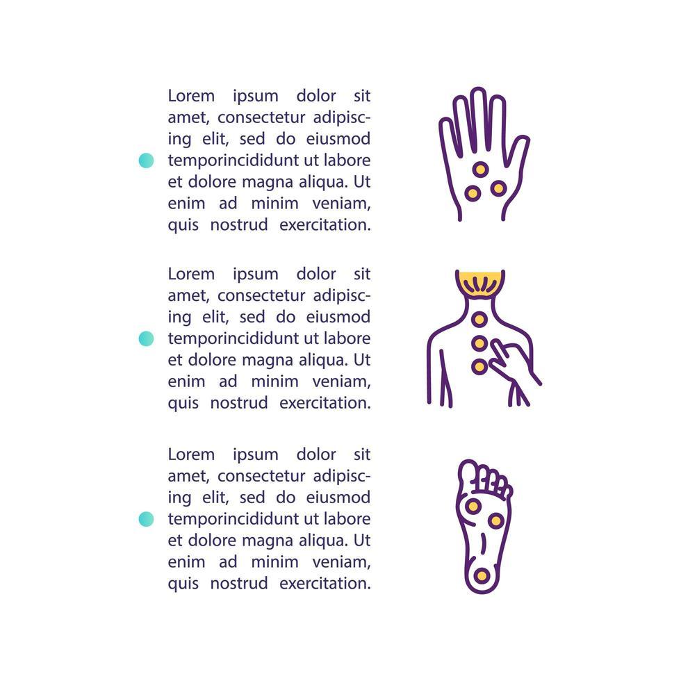 Akupressur-Konzept-Symbol mit Text vektor