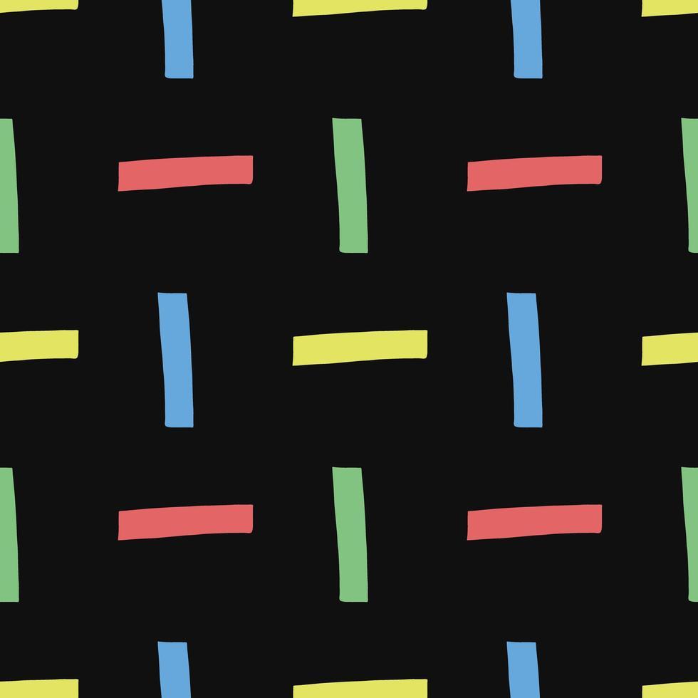 vektor sömlösa mönster, textur bakgrund. handritad, färgad, svart.