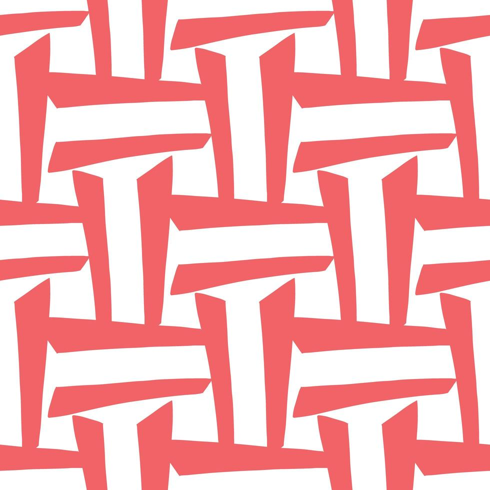 Vektor nahtloses Muster, Textur Hintergrund. handgezeichnete, rote, weiße Farben.