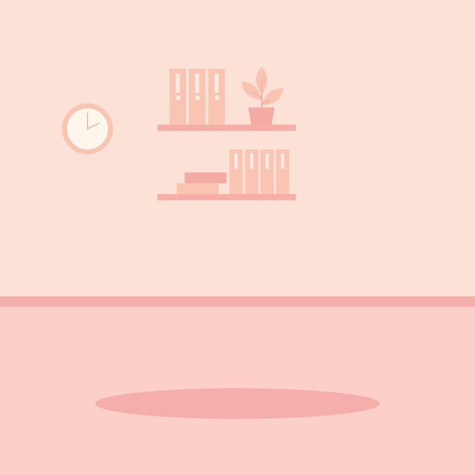 inomhus hem scen med dekoration vektor